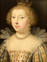 The portrait of the 'Duchesse d'Angoulême', 17thC, 26,5 x 33,5 cm