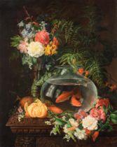 Delbeke, still life, 1863, 60 x 75 cm