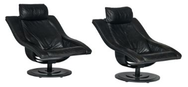 A pair of vintage 'Move' armchairs, by Marqaurdsen and Okamura, H 88 - W 78 cm