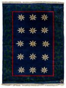 A vintage 1960's rug, wool on cotton, 175 x 238 cm