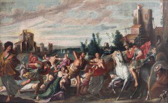 Karel van Mander (Attr.), the Infanticide in Bethlehem, oil on canvas, Late 16thC, 118 x 190 cm