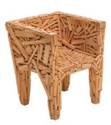 A 'Favela' armchair, design by the Campana brothers for Edra, H 76 - D 65 - D 63 cm