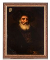 The portrait of a bearded nobleman, 19thC, 65 x 83 cm