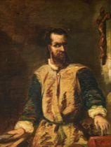 Portrait of a man in 17thC costume, 19thC, 32 x 42 cm