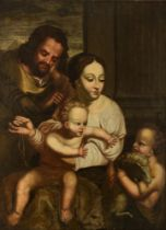 The Holy Family, 18thC, Spanish, 83 x 112 cm