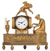 A very fine Empire mantle clock, marked 'Leclerc à Bruxelles', H 34,5 cm