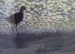 Brooke Groille XX-XXI Pastel Curlew on the Fowey, Cornwall Signed lower left 8 x 11 1/2? ( 20.3 x