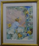 Arthur Henry Buckland (1870-?) RBA Watercolour , child / fairy painting ?Elusion ? Signed and