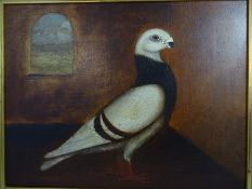 Late XIX English Provincial Naive School, Oil on canvas Portrait of the Prize Winning Show /