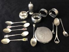 Assorted Silver Spoons to include : Man in the Moon Birmingham 1928 maker Horton & Allday, JB