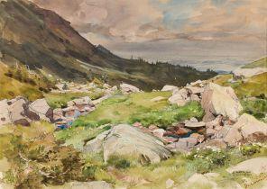 Edward Harrison Compton, Gebirgslandschaft, wohl Schweiz
