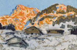 Alfons Walde, Berghof im winterlichen Abendlicht