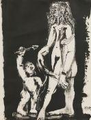 Pablo Picasso, Vénus et l'Amour (nach Cranach), 2. Variation
