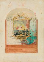 Josef Engelhart, Entwurf für eine Wanddekoration im Somossy-Theater in Budapest