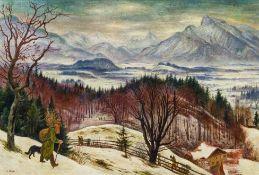 Albert Birkle, Salzburger Berge im Winter