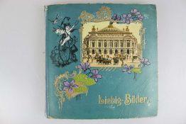 Liebig-Bilder-Album mit 323 chromolithogr. Sammelbildern, um 1900.