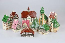 Lichthäuser von Leyk, 11 Stück, tadellos