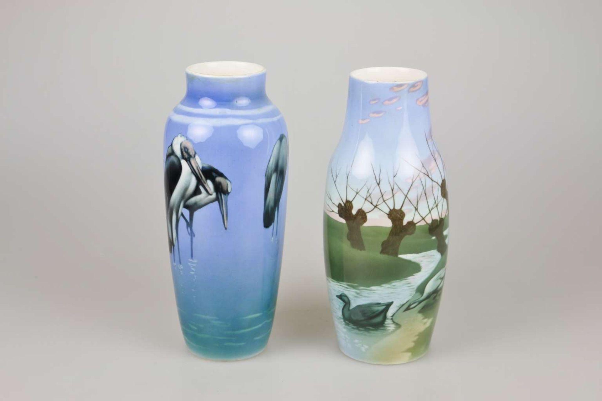 Lundström für Rörstrand, zwei Vasen
