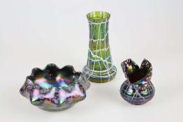 Konvolut von 3 Vasen/ Schale