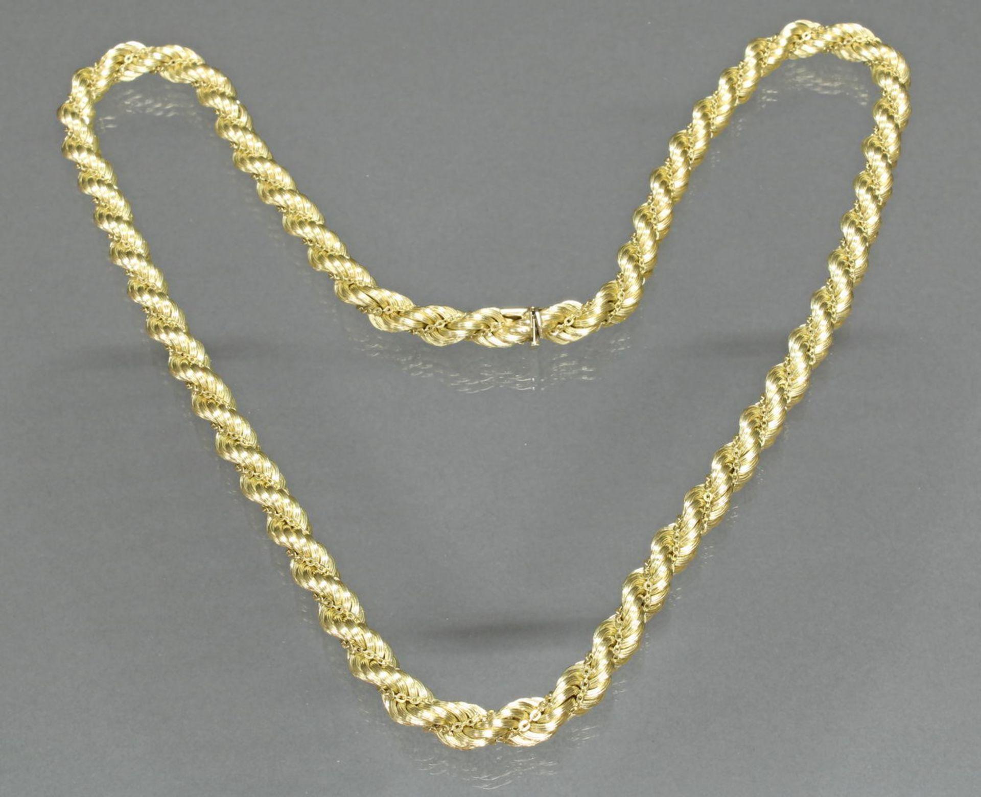 Kordelkette, GG 585, 81 cm lang, 94 g
