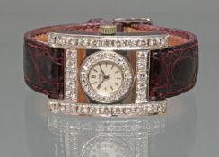 Damenarmbanduhr, Chopard, Marriage mit modernem Gehäuse, Entwurf Atelier Richarz, Bonn, WG 750, 24