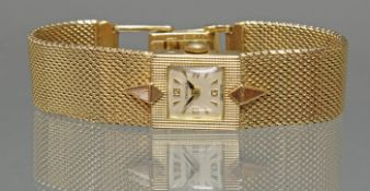 Damenarmbanduhr, 1920er/30er Jahre, 'Longines', GG 375, Handaufzug, cremefarbenes Zifferblatt, arab