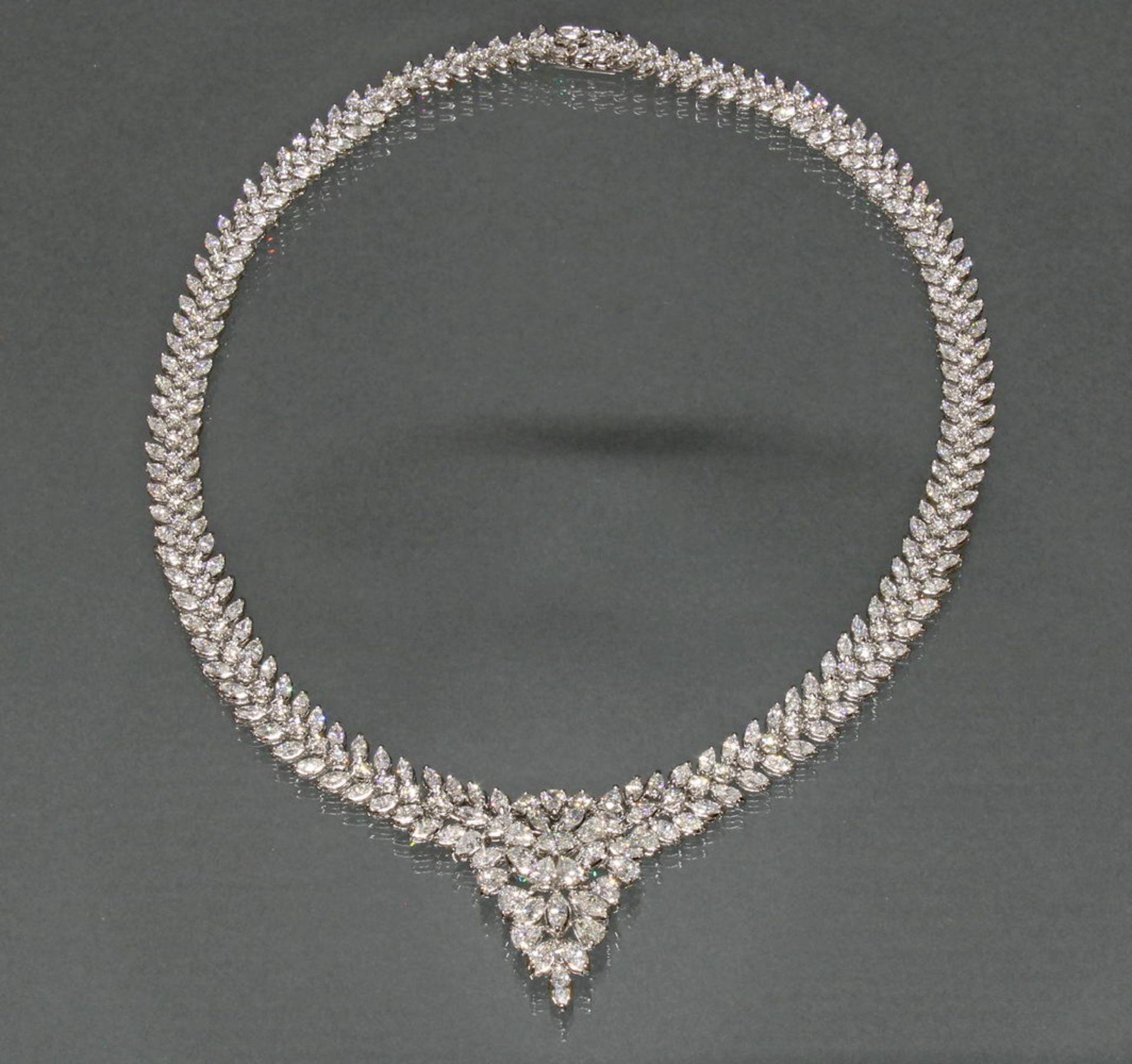 Collier, Atelier J.P. CAM, Fine Jewelery, Hongkong, WG 750, ca. 19.05 ct. - Bild 3 aus 4