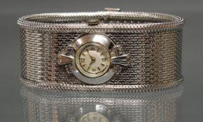 Uhrenarmband, WG 585, kleine Uhr mit Handaufzug, funktionstüchtig (ohne Gewähr), 17 cm lang, 68 g
