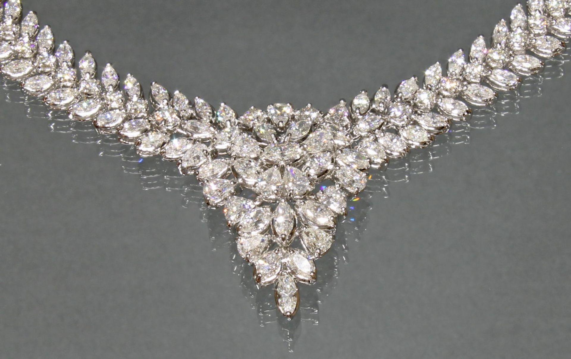 Collier, Atelier J.P. CAM, Fine Jewelery, Hongkong, WG 750, ca. 19.05 ct. - Bild 4 aus 4