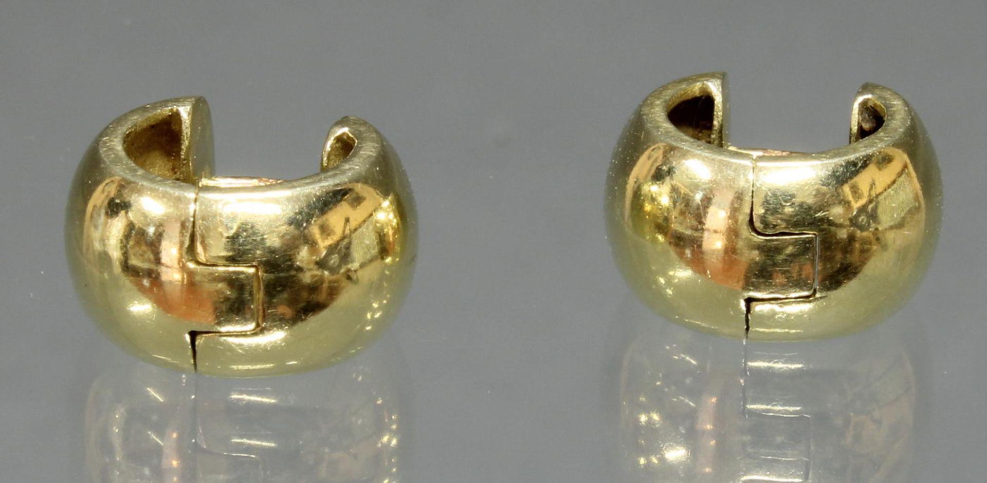 Paar Creolen, GG 585, 6.9 g