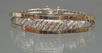 Armband mit verdeckter Uhr, 1970er Jahre, WG 585, Uhr 'Hamilton', Handaufzug, silberfarbenes Ziffer