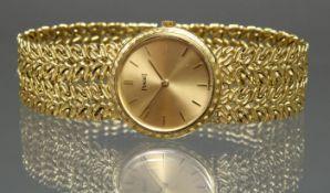 Damenarmbanduhr, Piaget, GG 750, Handaufzug, Gehäuse-Nr. 924N21/115280, Kaufdatum 10/65, goldfarbe
