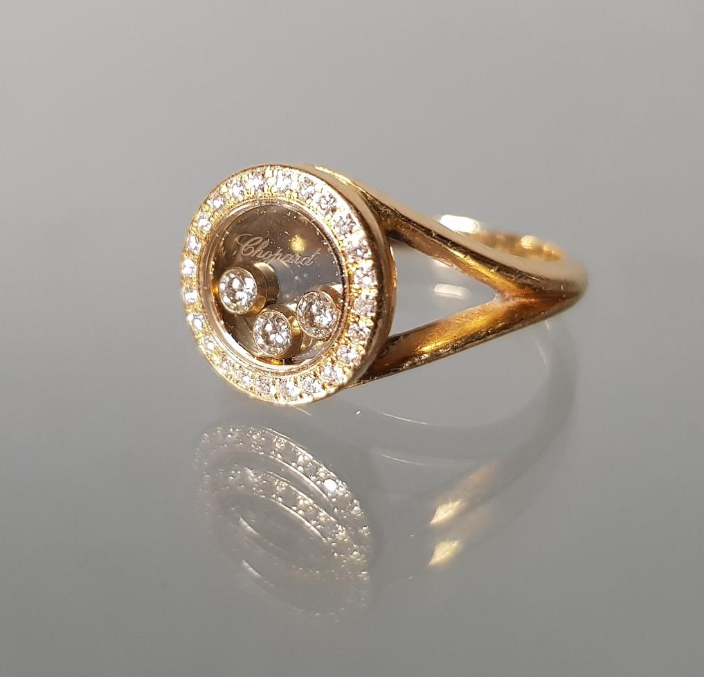 'Happy-Diamond'-Ring, signiert und nummeriert Chopard Nr. 2278460/82/3926, GG 750, 6 g, RM 16.5