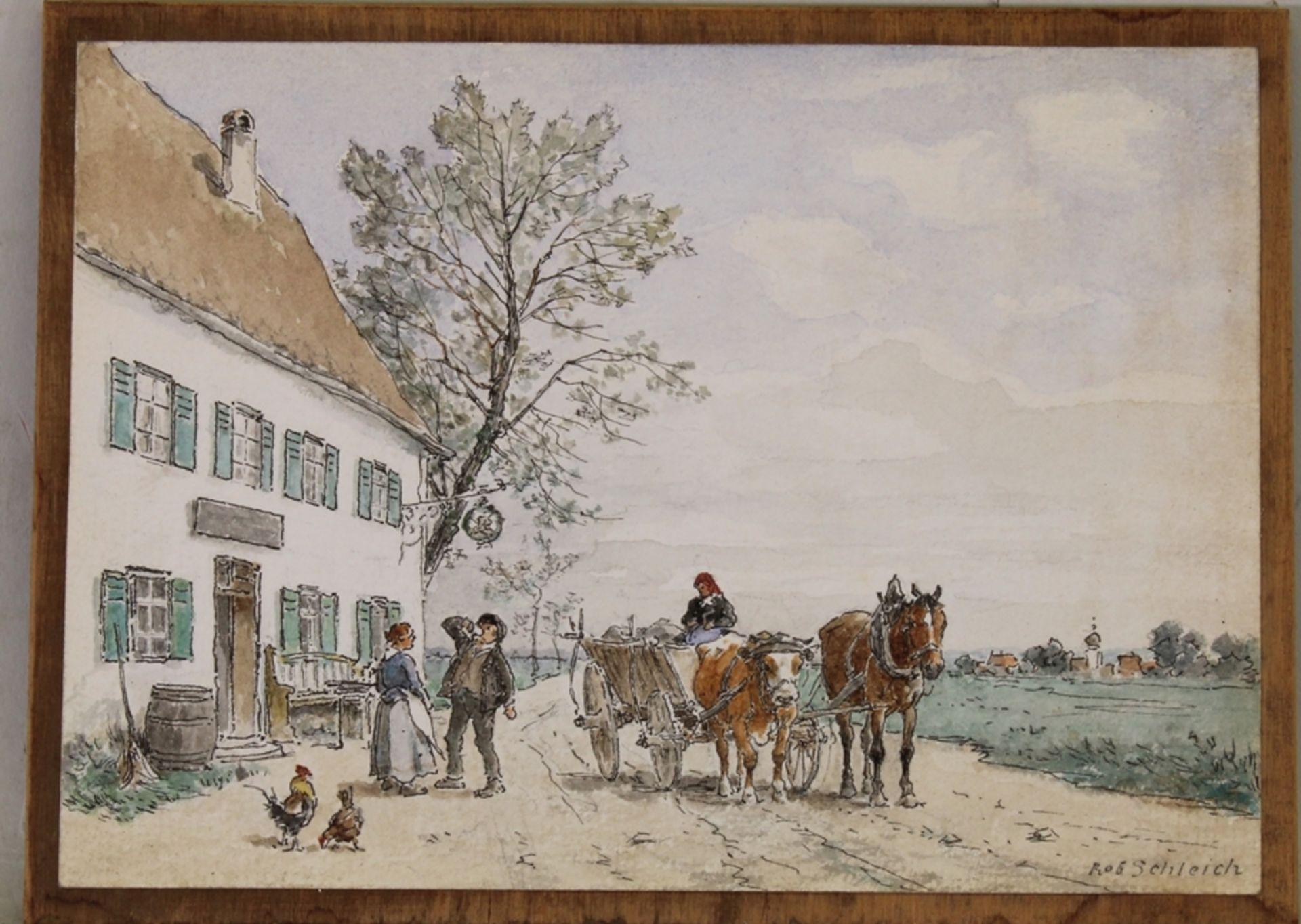 Schleich, Robert (München 1845 - 1934 ebda., Schüler Wilhelm von Diez', beeinflusst durch Eduard Sc - Bild 3 aus 5