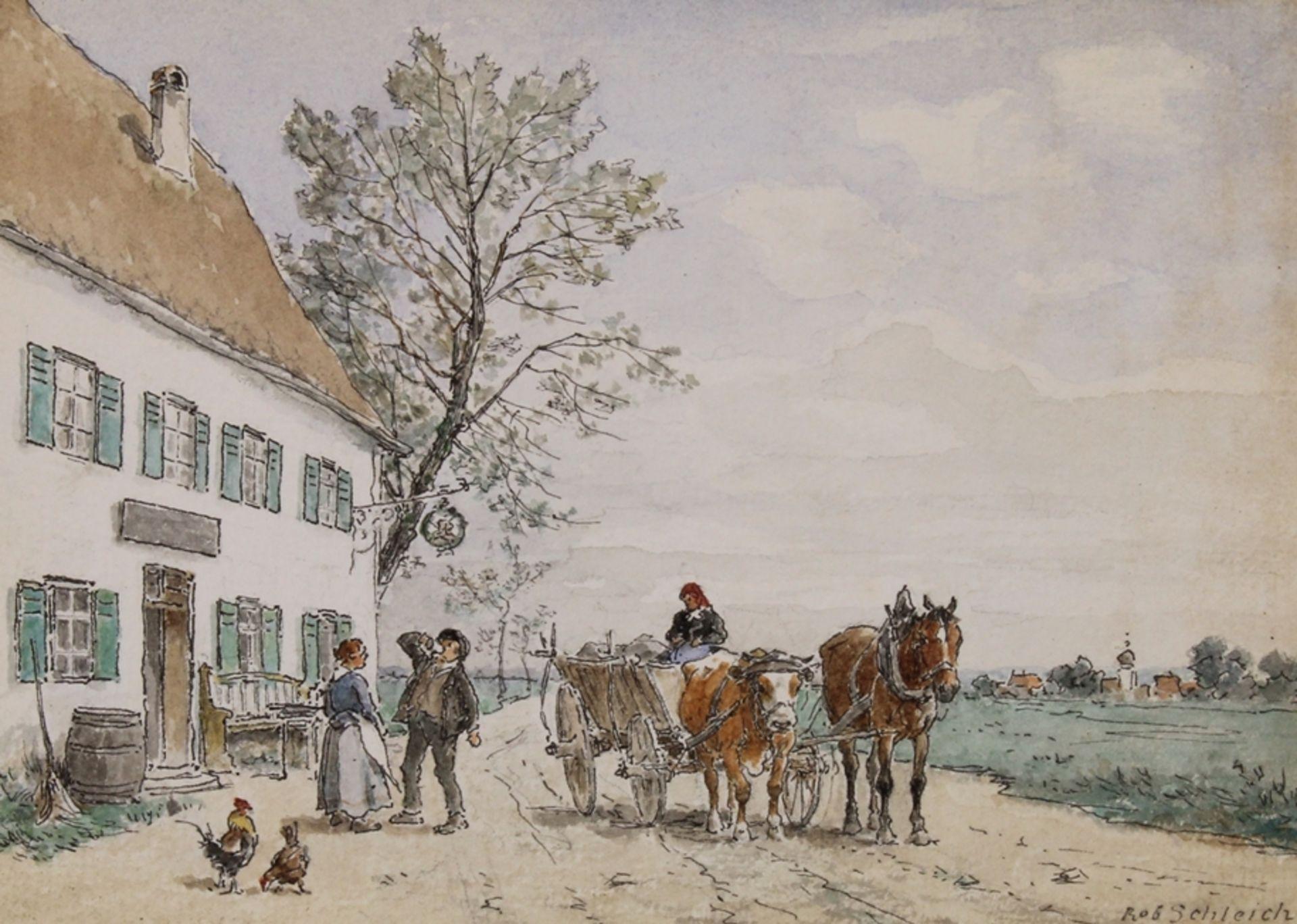 Schleich, Robert (München 1845 - 1934 ebda., Schüler Wilhelm von Diez', beeinflusst durch Eduard Sc