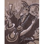 Kintrup, Eduard (Dortmund 1896 - 1959 Bonn, in Bonn tätiger Landschaftsmaler und Grafiker),