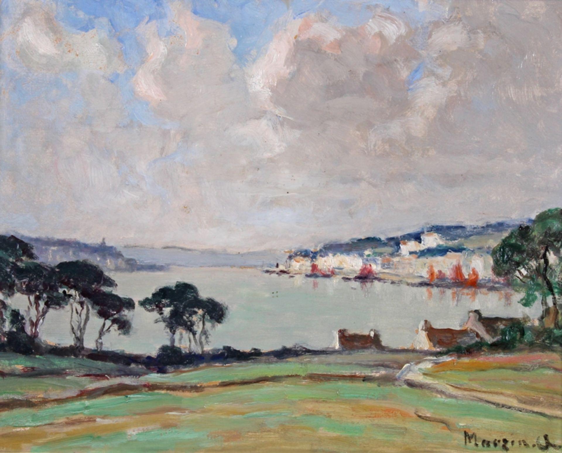 Marzin, Alfred ( Saint-Yrieix 1880-1943 Nantes, französischer Künstler, der ausschließlich Motive a