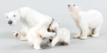 3 Eisbärenfiguren