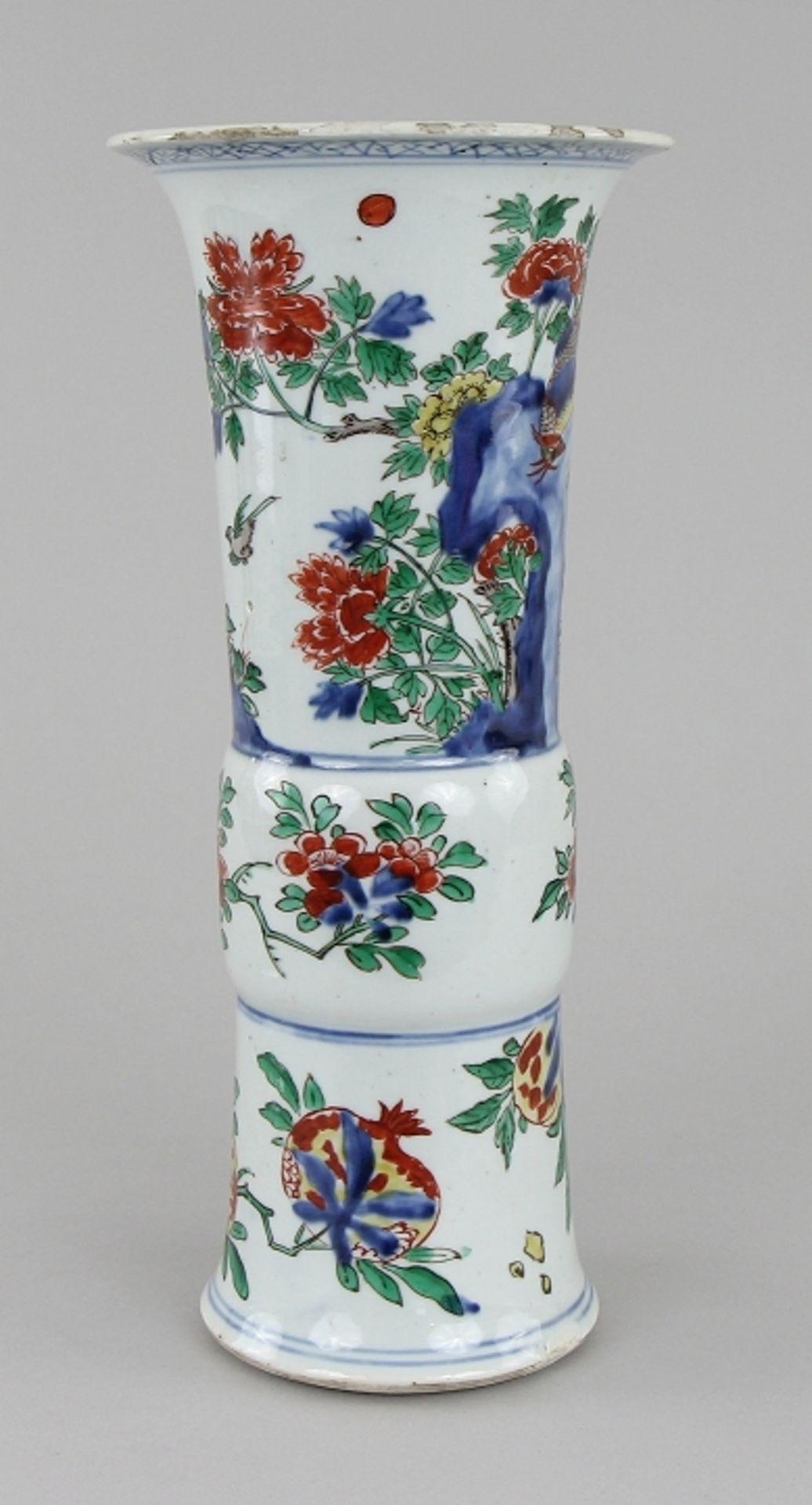 Große Wucai - Vase - Image 4 of 9