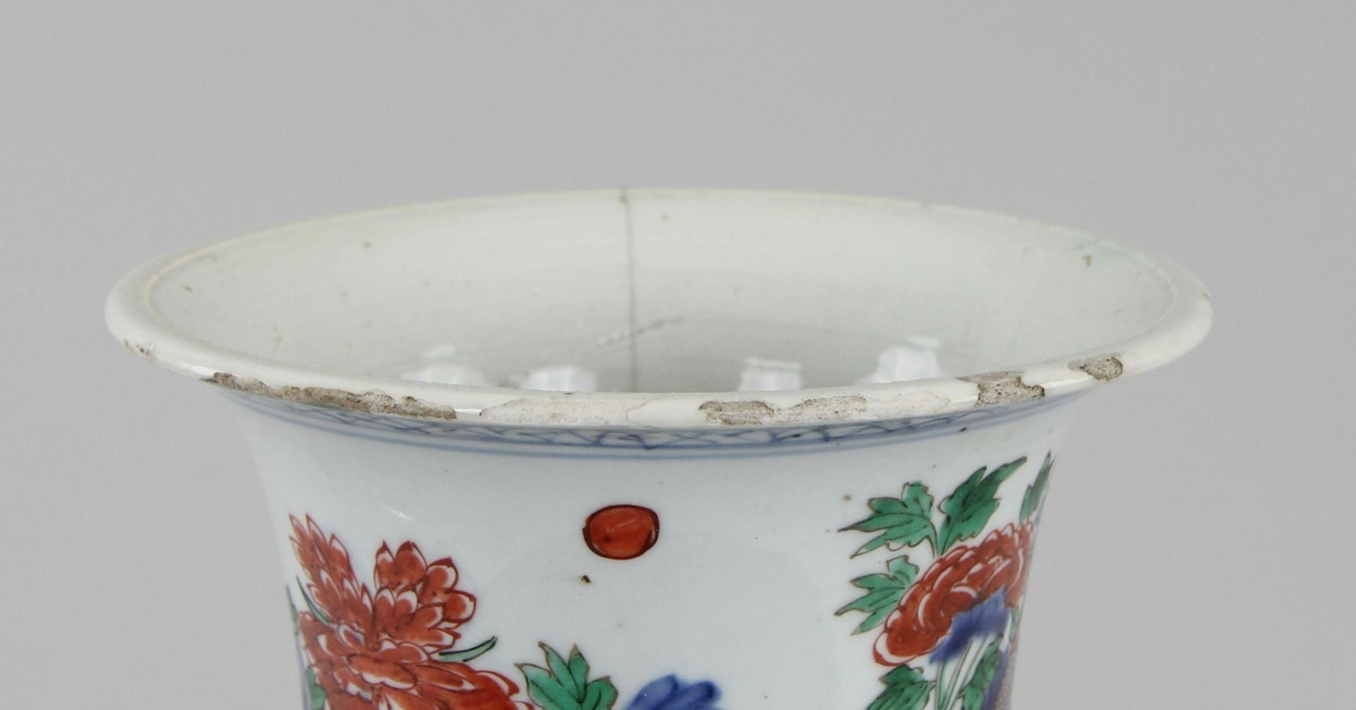 Große Wucai - Vase - Image 5 of 9