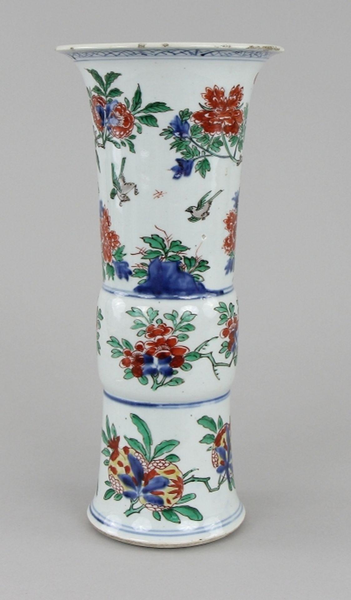 Große Wucai - Vase - Image 3 of 9