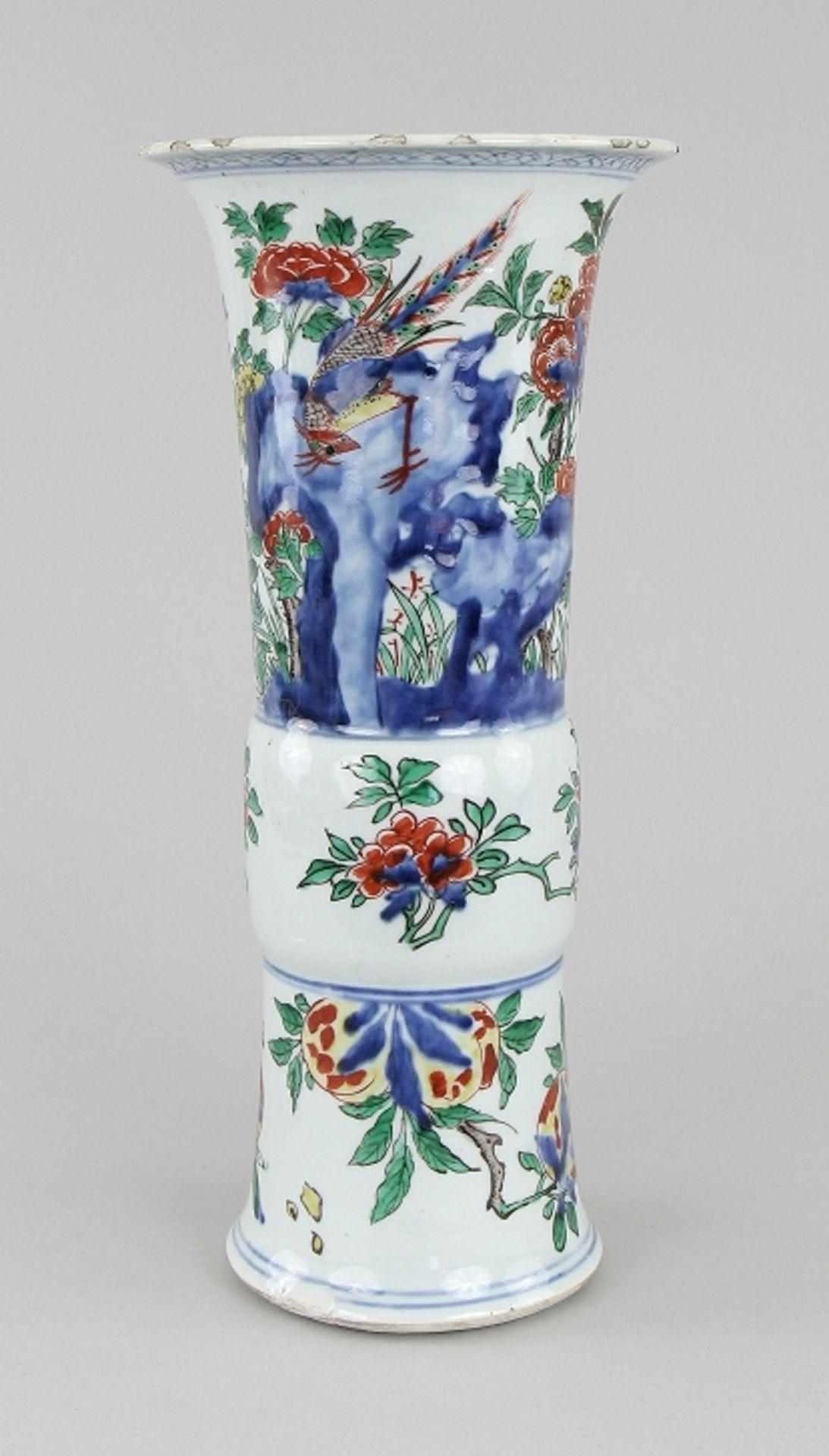 Große Wucai - Vase
