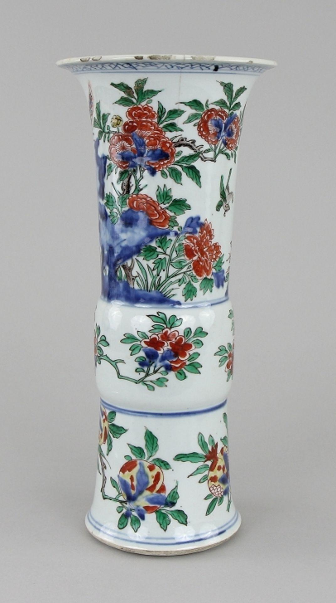 Große Wucai - Vase - Image 2 of 9