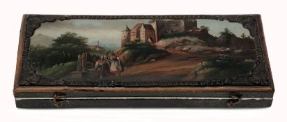 A Travelling Cutlery in Rare Painted Case