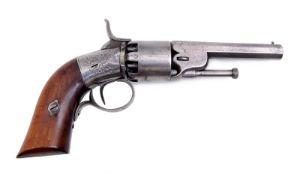 A rare transitional percussion revolver by Toussaint Lhoist