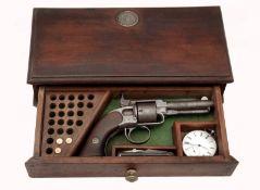 James Warner Pocket Model Revolver in a Wooden Box