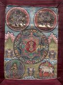 A Thangka with Mandala Motif