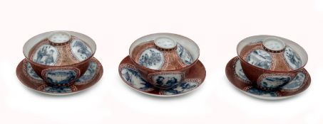 Three Pieces of the Kutani Style Tea Set