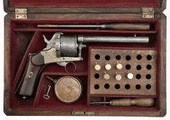 A Cased Pinfire Revolver