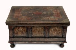 Folk Art Painted Small Chest